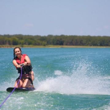 Kneeboarding or Water Skiing