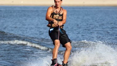 Kneeboarding or Wakeboarding